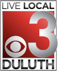 CBS Channel 3 Duluth color logo